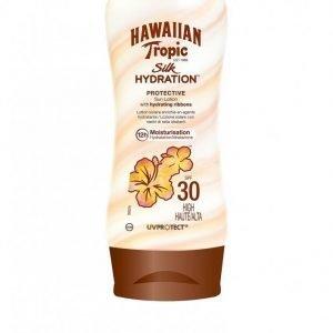 Hawaiian Tropic Silk Hydration Protective Sun Lotion Spf 30 180 Ml Aurinkosuoja Valkoinen