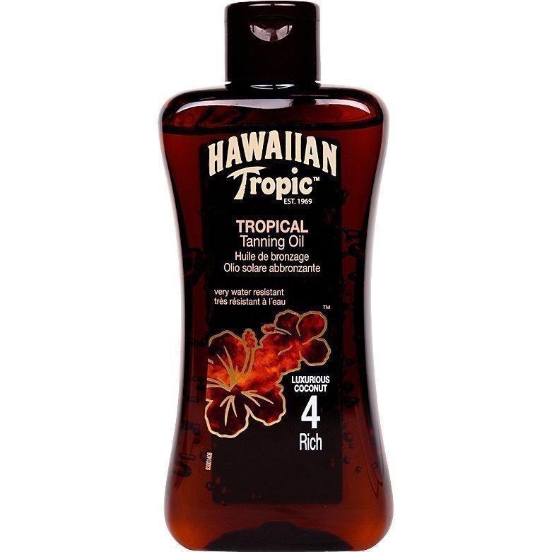 Hawaiian Tropic Tropical Tanning Oil Rich SPF4 200ml