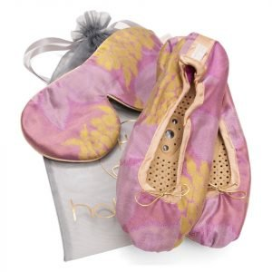 Holistic Silk Eye Mask Slipper Gift Set Rose Various Sizes L
