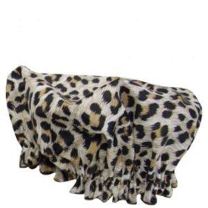 Hydrea London Eco Friendly Shower Cap Leopard