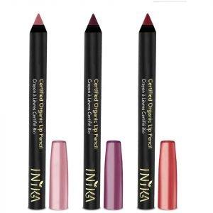 Inika Certified Organic Lipstick Crayon Trio