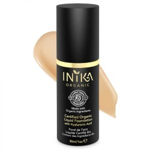 Inika Certified Organic Liquid Mineral Foundation Various Colours Honey
