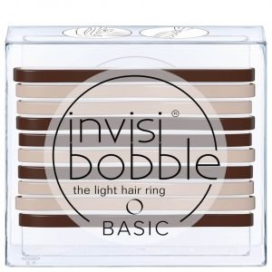 Invisibobble Basic The Light Hair Ring Mocca And Cream 10 Pack