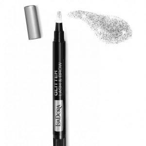 Isadora Glitter Lash & Brow Pen Kulmakynä Hopea