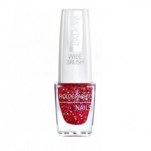 Isadora Holographic Glitter Nails Kynsilakka Ruby