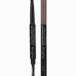 Isadora Sculpting Brow Pen Waterproof With Brush Kulmakynä Medium Brown