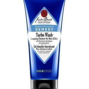 Jack Black Turbo Wash Energizing Cleanser Puhdistusaine Vartalolle Ja Hiuksille 295 ml
