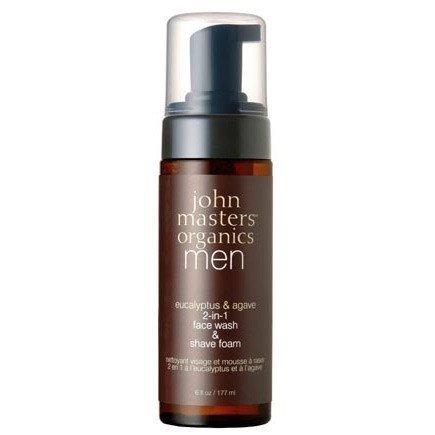 John Masters Eucalyptus & Agave Organics 2-in-1 Face Wash & Shave Foam