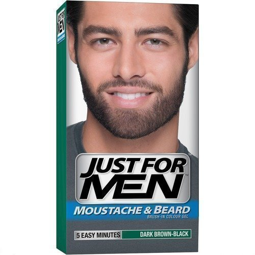 Just For Men Brush In Colour Gel Moustache Beard & Sideburns Dark Brown-Black