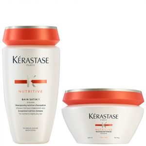 Kérastase Nutritive Bain Satin 1 250 Ml And Masquintense Cheveux Fins For Thin Hair 200 Ml