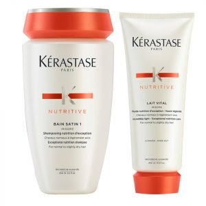 Kérastase Nutritive Bain Satin 1 250 Ml And Nutritive Lait Vital 200 Ml