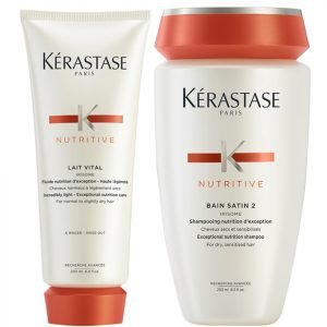 Kérastase Nutritive Bain Satin 2 250 Ml And Nutritive Lait Vital 200 Ml