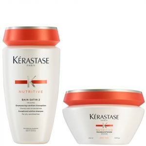 Kérastase Nutritive Bain Satin 2 250 Ml & Masquintense Cheveux Epais For Thick Hair 200 Ml