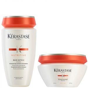 Kérastase Nutritive Bain Satin 2 250 Ml & Masquintense Cheveux Epais For Thick Hair 200 Ml