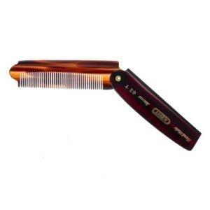 Kent Brushes Handmade Mens Large Folding Pocket Comb Fine