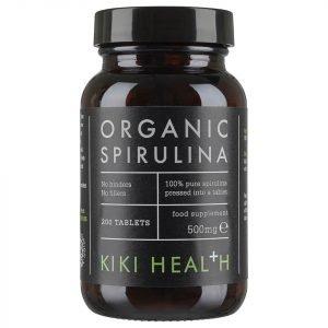 Kiki Health Organic Spirulina Tablets 200 Tablets
