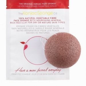 Konjac Sponge Facial Puff Red Clay Ihonpuhdistussieni Red Clay