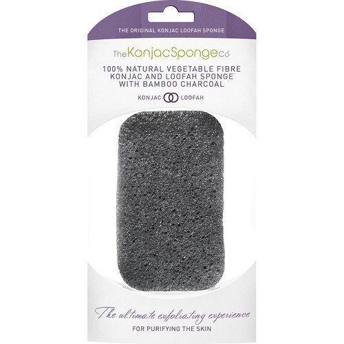 Konjac Sponge Konjac & Loofah Mix Charcoal Body Sponge