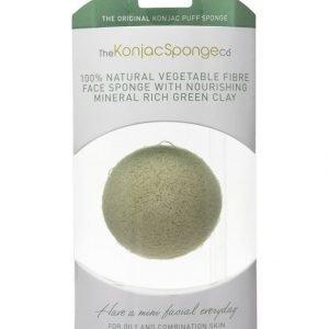 Konjac Sponge Premium Facial Puff French Green Clay Ihonpuhdistussieni