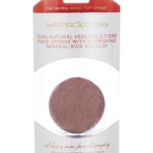 Konjac Sponge Premium Facial Puff French Red Clay Ihonpuhdistussieni