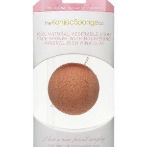 Konjac Sponge Premium Facial Puff Pink Clay Ihonpuhdistussieni