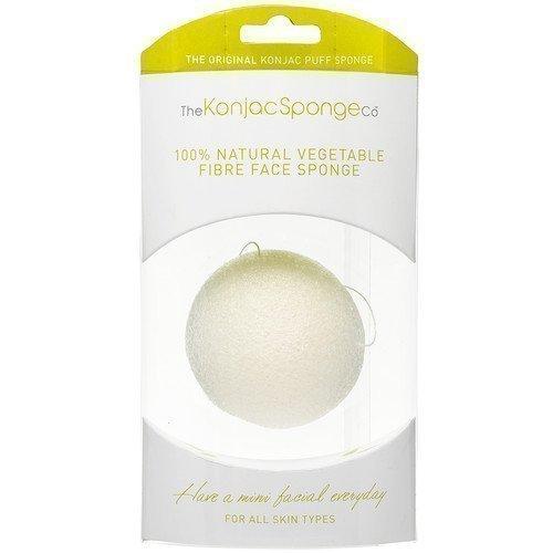 Konjac Sponge Premium Facial Puff Pure White 100%