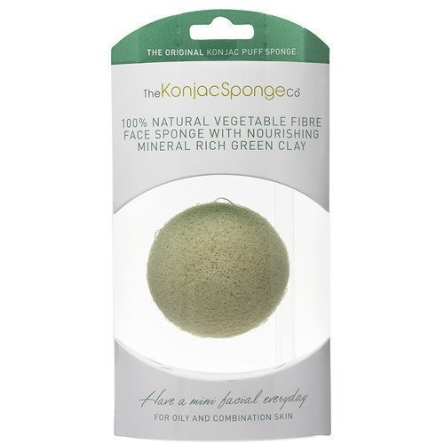 Konjac Sponge Premium Facial Puff with French Green Clay