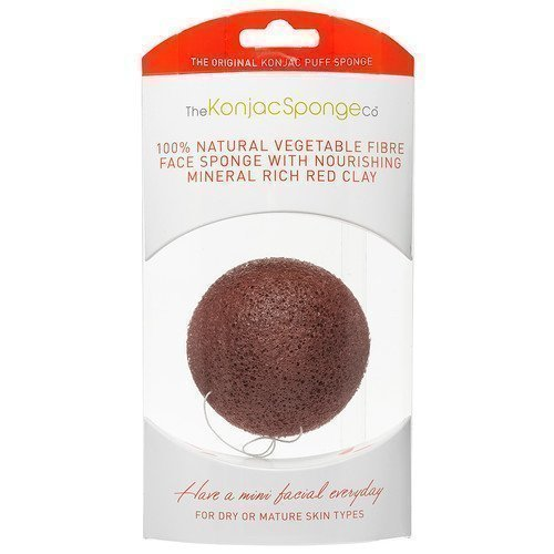 Konjac Sponge Premium Facial Puff with French Red Clay