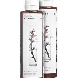 Korres Almond & Linseed Shampoo 2 X 250 ml