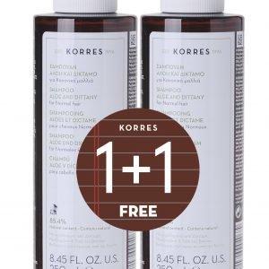 Korres Aloe & Dittany Shampoo 2x250ml Tuplapakkaus