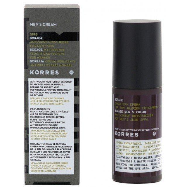 Korres Anti-Shine Moisturiser For Men SPF6 50ml