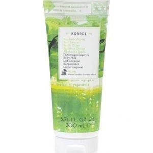 Korres Basil Lemon Body Milk Vartalovoide 200 ml