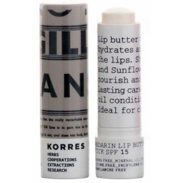 Korres Lip Butter Stick SPF 15 Colourless