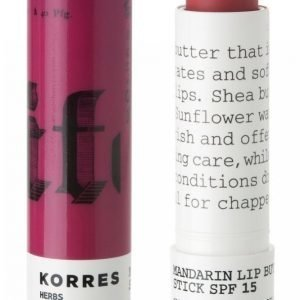 Korres Lipbutter Clear Purple Spf 15 5 G Huulivoide