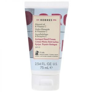 Korres Natural Almond Oil And Vitamin C Anti-Spot Hand Cream 75 Ml