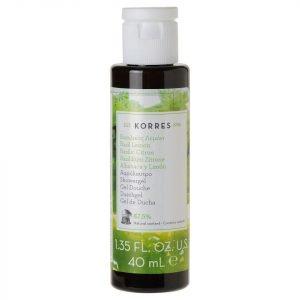 Korres Natural Basil Lemon Shower Gel Travel Size 40 Ml