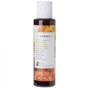 Korres Natural Bergamot Pear Shower Gel Travel Size 40 Ml