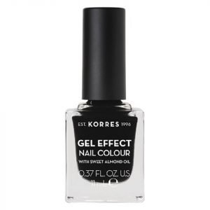 Korres Natural Gel Effect Nail Colour Black 11 Ml