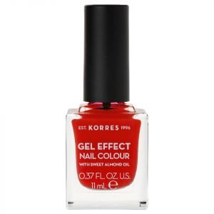 Korres Natural Gel Effect Nail Colour Coral Red 11 Ml