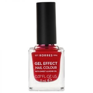 Korres Natural Gel Effect Nail Colour Rosy Red 11 Ml