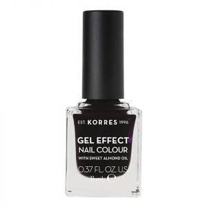 Korres Natural Gel Effect Nail Colour Smokey Plum 11 Ml