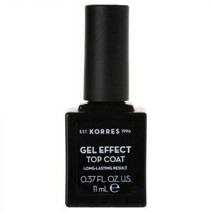 Korres Natural Gel Effect Nail Colour Top Coat 11 Ml