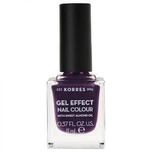 Korres Natural Gel Effect Nail Colour Violet Garden 11 Ml