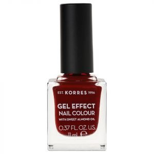 Korres Natural Gel Effect Nail Colour Wine Red 11 Ml