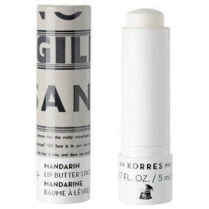 Korres Natural Mandarin Lip Butter Stick Spf15 Clear