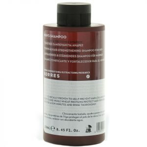 Korres Natural Men's Magnesium And Wheat Protein Toning And Hair Strengthening Shampoo 250 Ml