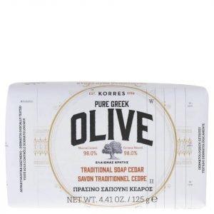 Korres Natural Pure Greek Olive And Cedar Soap 125 G