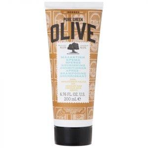 Korres Natural Pure Greek Olive Nourishing Conditioner For Dry / Damaged Hair 200 Ml