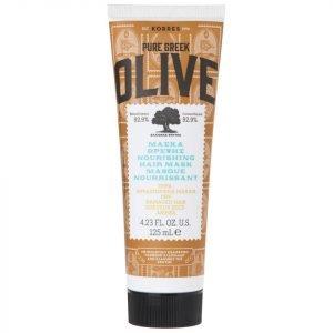 Korres Natural Pure Greek Olive Nourishing Hair Mask For Dry / Damaged Hair 125 Ml