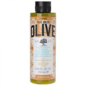 Korres Natural Pure Greek Olive Nourishing Shampoo For Dry / Damaged Hair 250 Ml